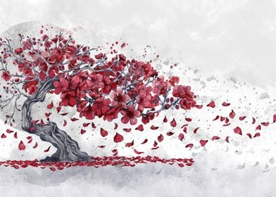 cherry blossom posters art prints