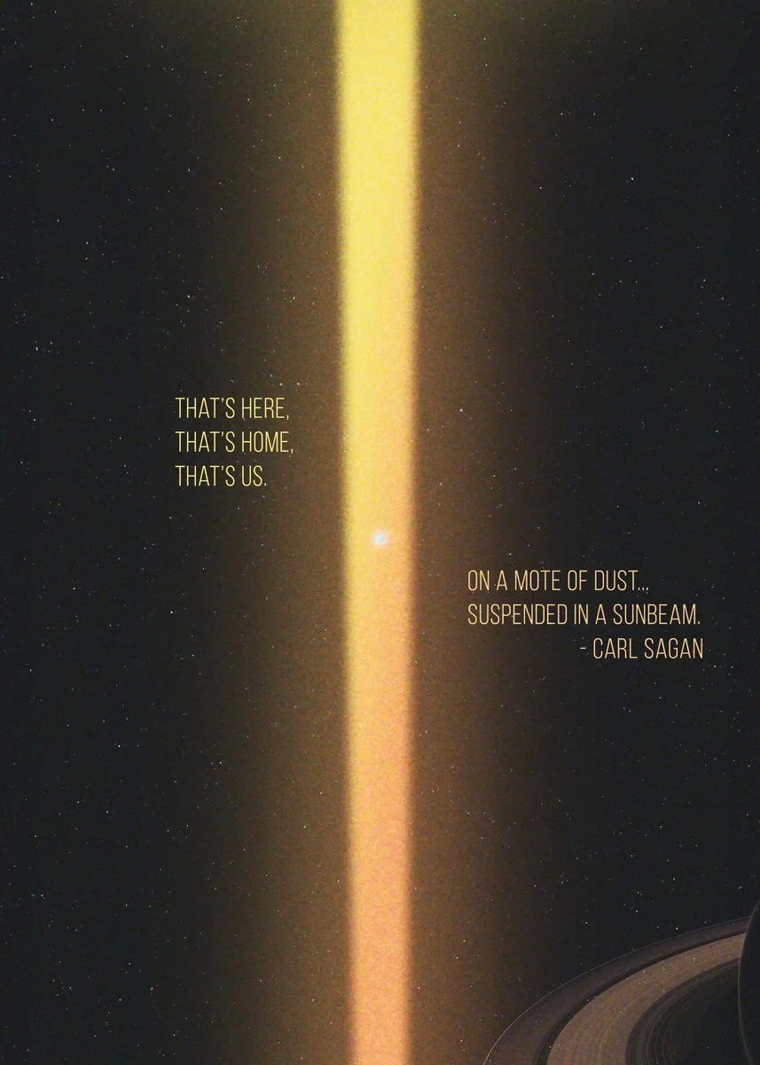 pale blue dot poster by thanh nguyen displate