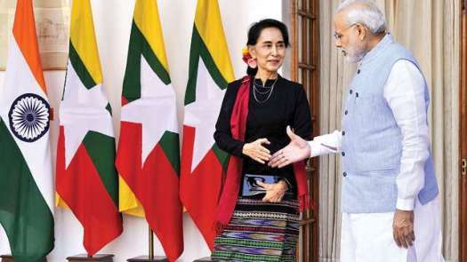 Image result for modi's visit to myanmar