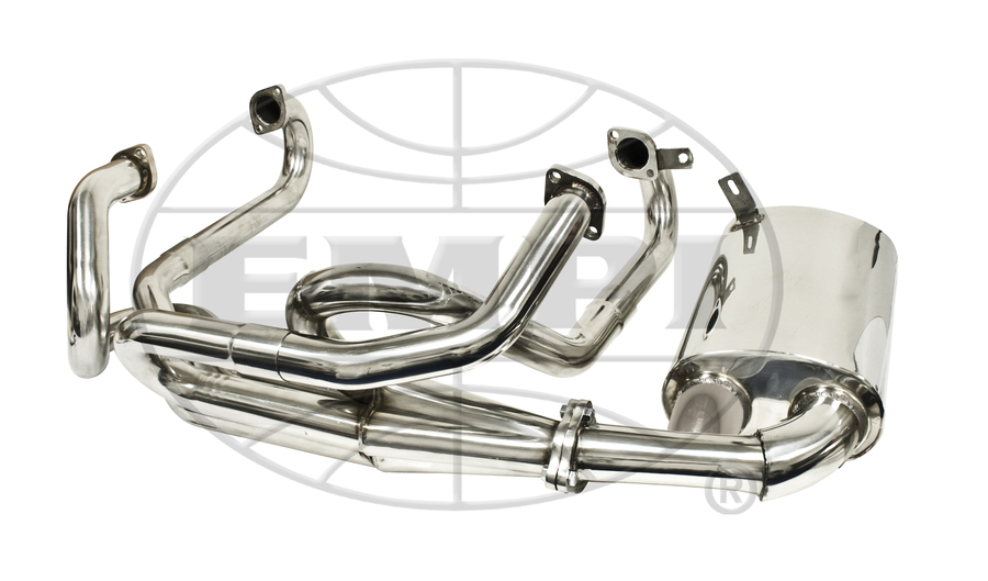 merged exhaust system 1 5 8 sideflow stainless steel premium empi