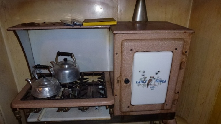 The antique Early Kooka stove. Photo: Supplied