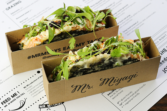 mr miyagi Nori Tacos. Photo: supplied