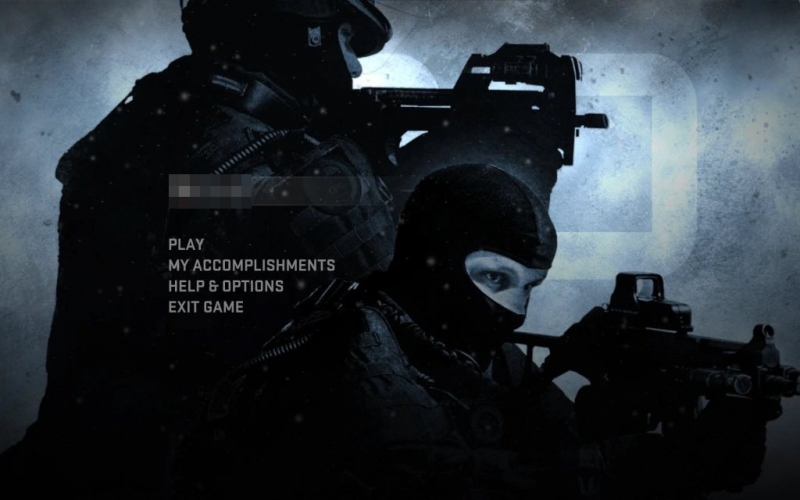 The original CS:GO menu, dated 2012 |  Photo: Disclosure/Valve
