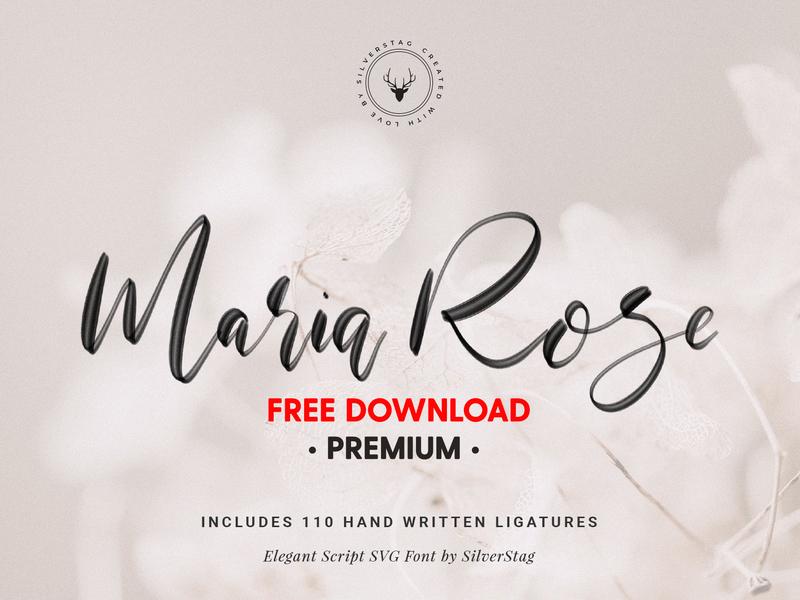 Download FREE Premium Download - Maria Rose Elegant Script SVG Font ...