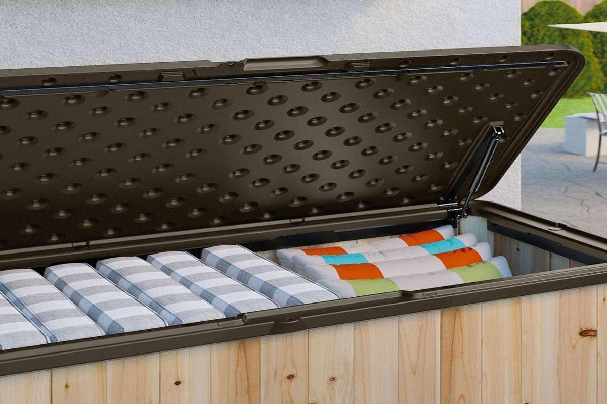 Suncast Wood Amp Resin Deck Box