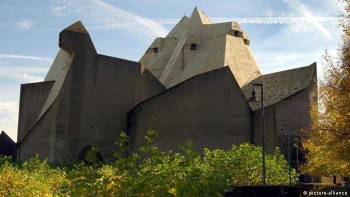 An angular concrete building