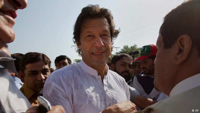 Imran Khan at a protest in Islamabad, Pakistan Pakistan (AP)