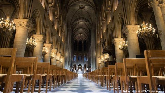Interior of the Notre-Dame de Paris cathedral (Patrick Kovarik/AFP/Getty Images)