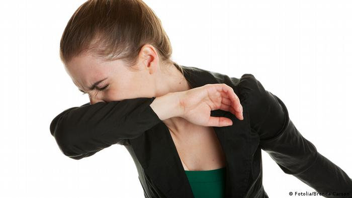Cough Sneeze Arm Germs (Fotolia / Brenda Carson)