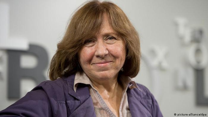 Belarusian author and journalist Svetlana Alexievich