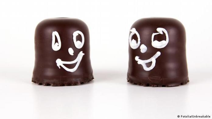 Chocolate kiss facial expression