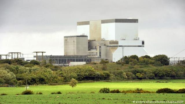 A photo showing the Hinkley Point nuclear power station in Somerset, Great Britain.