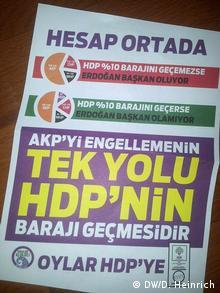 7 Haziran seçimleri için hazırlanmış HDP afişi