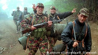 Soldiers of the Kosovo Liberation Army, May 1999