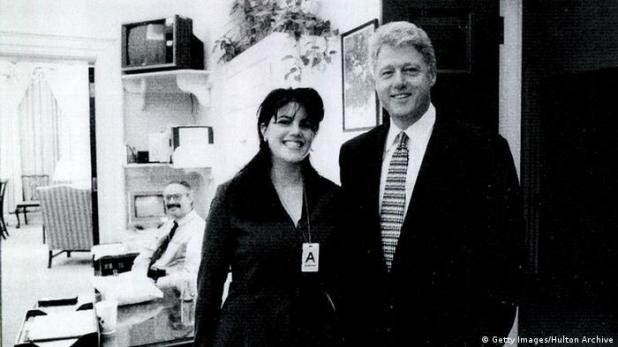 USA Monica Lewinsky und Bill Clinton (Getty Images/Hulton Archive)