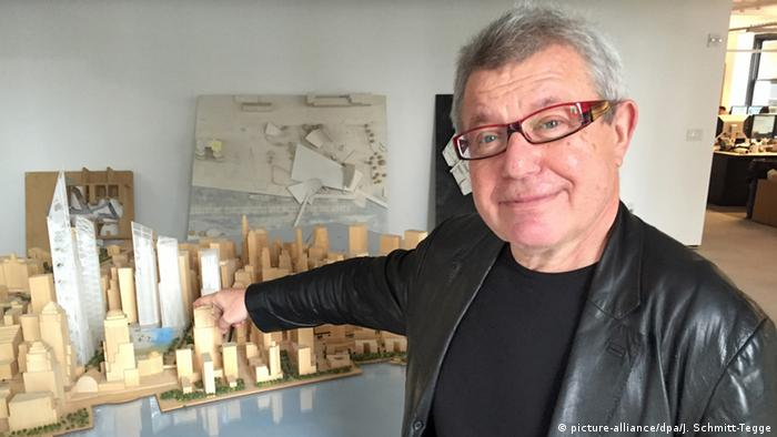 Daniel Libeskind in his studio in New York.