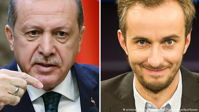 Turkish President Recep Tayyop Erdogan and German comedian Jan Böhmermann.