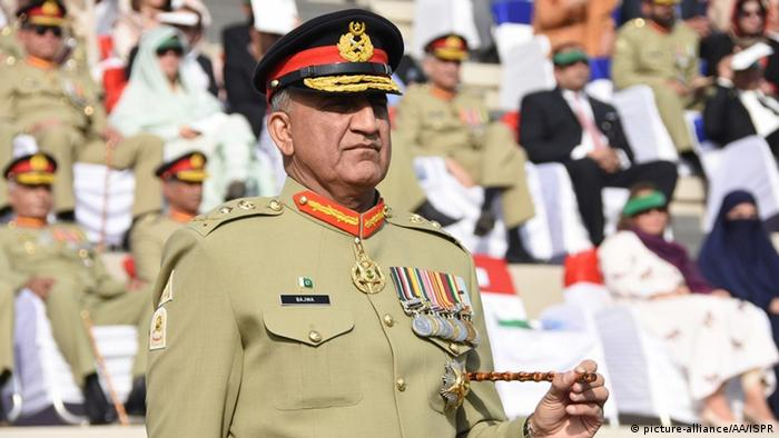 Pakistan army chief, Qamar Javed Bajwa