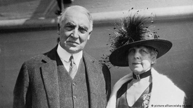 USA Warren G. Harding mit Ehefrau (picture-alliance/akg-images)