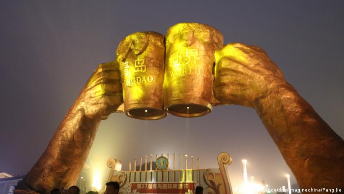 Wanren Square of Golden Sands Beach at the 27th Qingdao International Beer Festival.