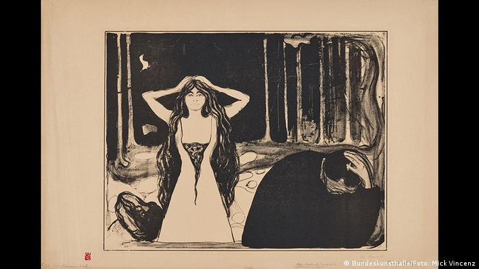 Edvard Munch, Ashes II, 1899 (Kunst- und Ausstellungshalle der Bundesrepublik Deutschland GmbH/Foto: Mick Vincenz)