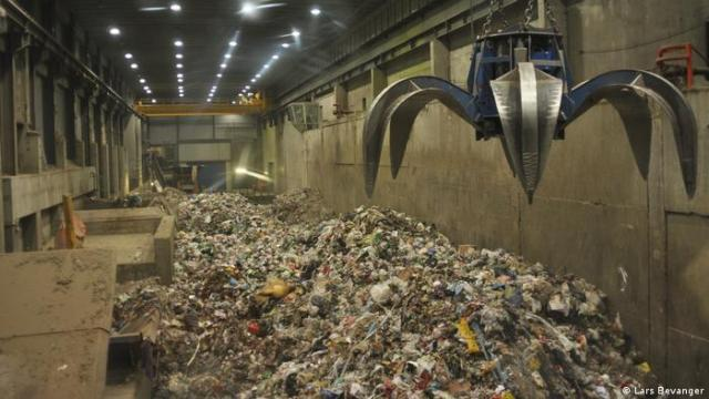Rubbish at an incineration plant in Norway
