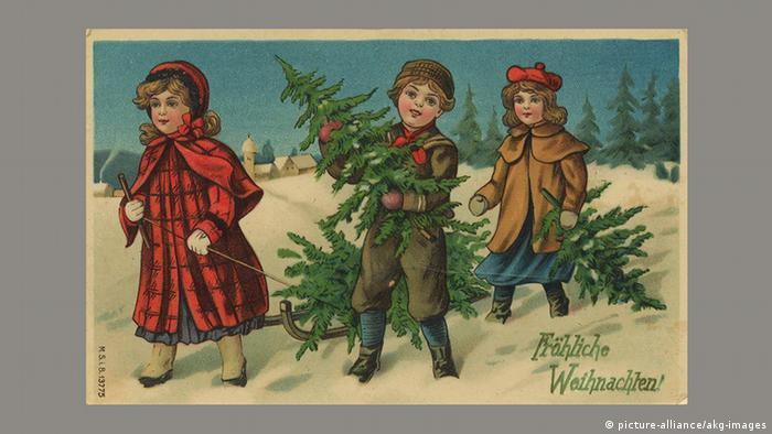 Рождественская почтовая открытка, 1910 год