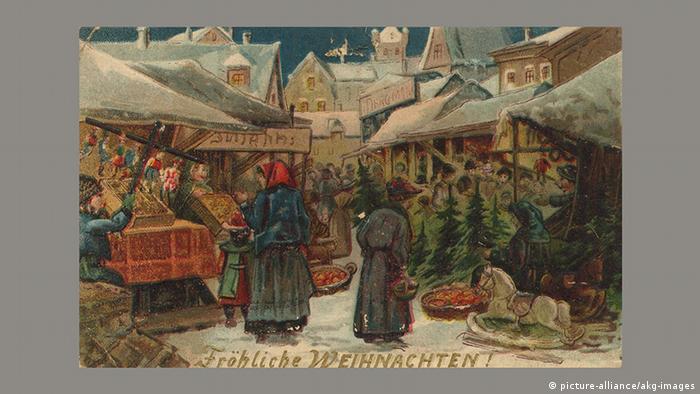 Рождественская почтовая открытка, 1905 год
