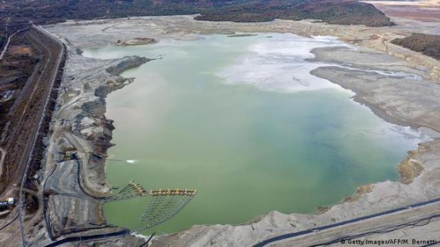 Vista aérea de uma barragem de rejeitos destinada ao armazenamento de subprodutos de operações de mineração, neste caso, da extração de cobre da mineradora Minera Valle Central, em Rancagua, Chile em 31 de maio de 2019