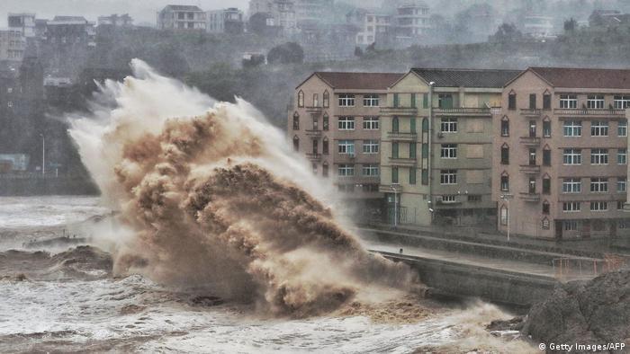 El tifón Lekima en 2019.