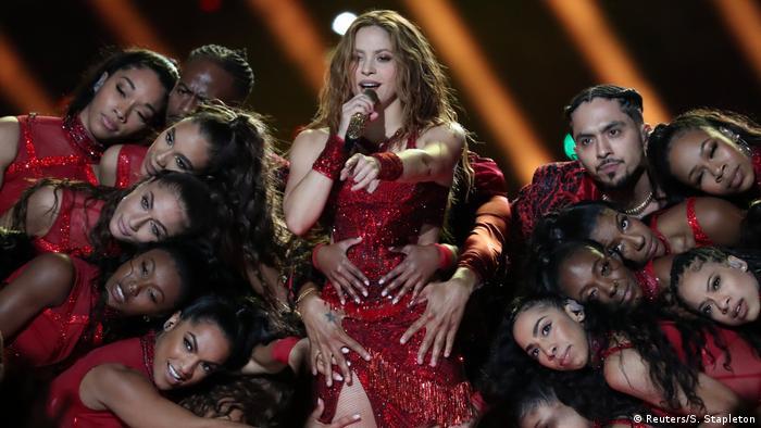 Shakira performs at Super Bowl