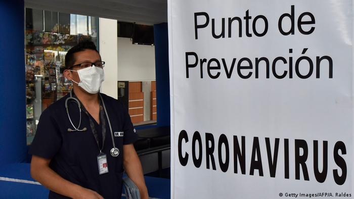 Bolivien La Paz   Coronavirus   El Alto International Airport, Sicherheitsmaßnahmen