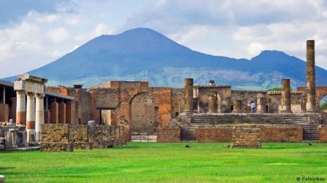 Pompeji and Vesuv, Italy