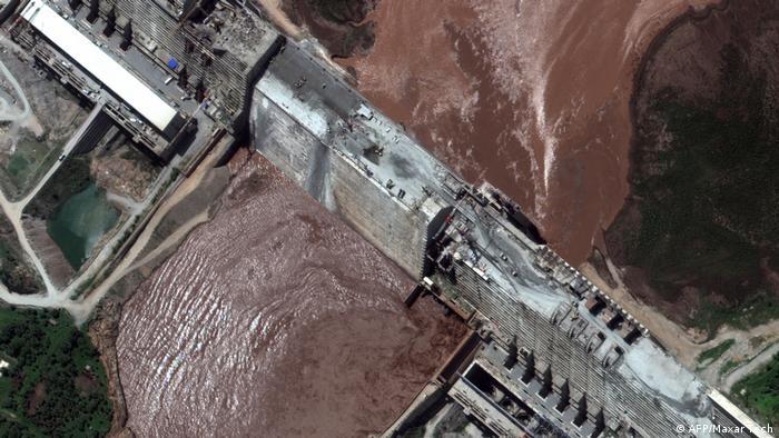 Aerial view of the Grand Ethiopian Renaissance Dam
