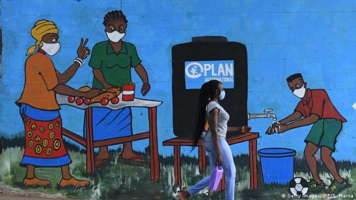 Kenia Corona Graffiti (Getty Images / AFP / S. Maina)