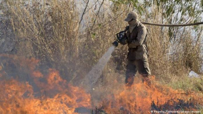 Wildfires in the Brazilian state of Mato Grosso
