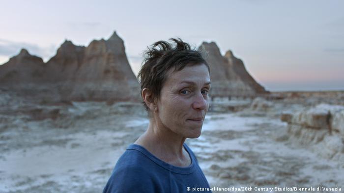 Film still from Nomadland: Frances McDormand