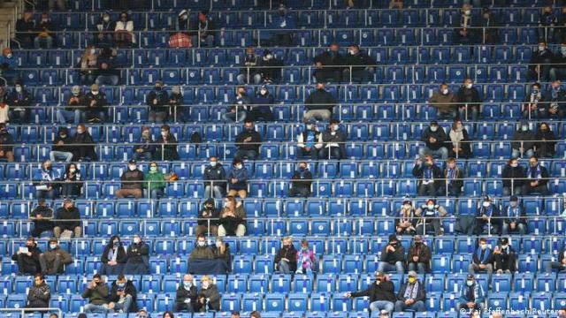 Socially-distanced fans at Hoffenheim vs. Borussia Dortmund