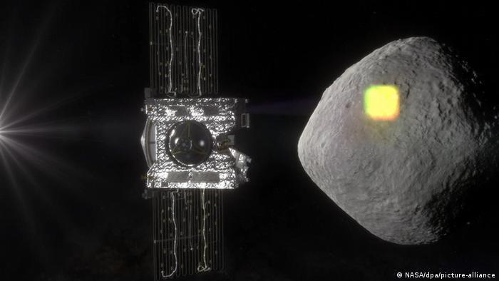 La sonda Osirix-Rex aproximándose al asteroide Bennu