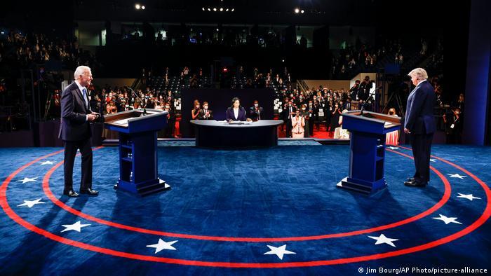 Джо Байден та Дональд Трамп під час дебатів кандидатів у президенти США