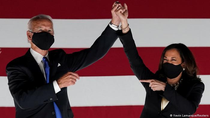 Джо Байден і Камала Харріс - переможці виборчих перегонів у США