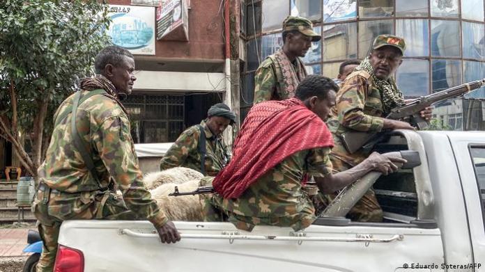 Members of the Amhara militia (Eduardo Soteras/AFP)