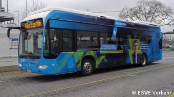 Городской автобус на водородном топливе в немецком Висбадене