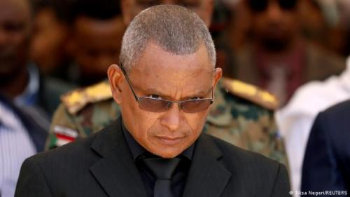 Debretsion Gebremichael, Tigray Regional President, attends the funeral ceremony of Ethiopia's Army Chief of Staff Seare Mekonnen in Mekele, Tigray Region, Ethiopia June 26, 2019.