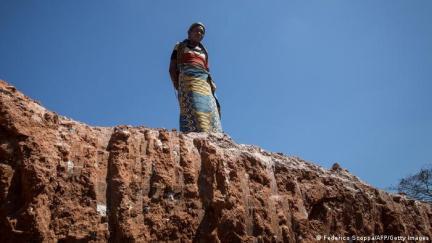 Dans une mine de cobalt entre Lubumbashi et Kolwezi (archive)