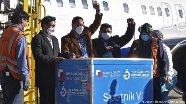 Прибытие первой партии вакцины Спутник V в Боливию.