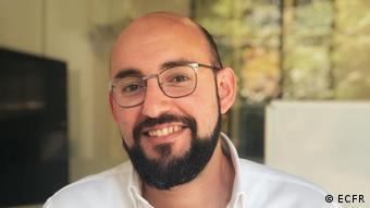 A portrait of Tarek Megerisi, Libya analyst with the ECFR