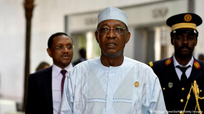 Idriss Deby at an African Union summit in 2020