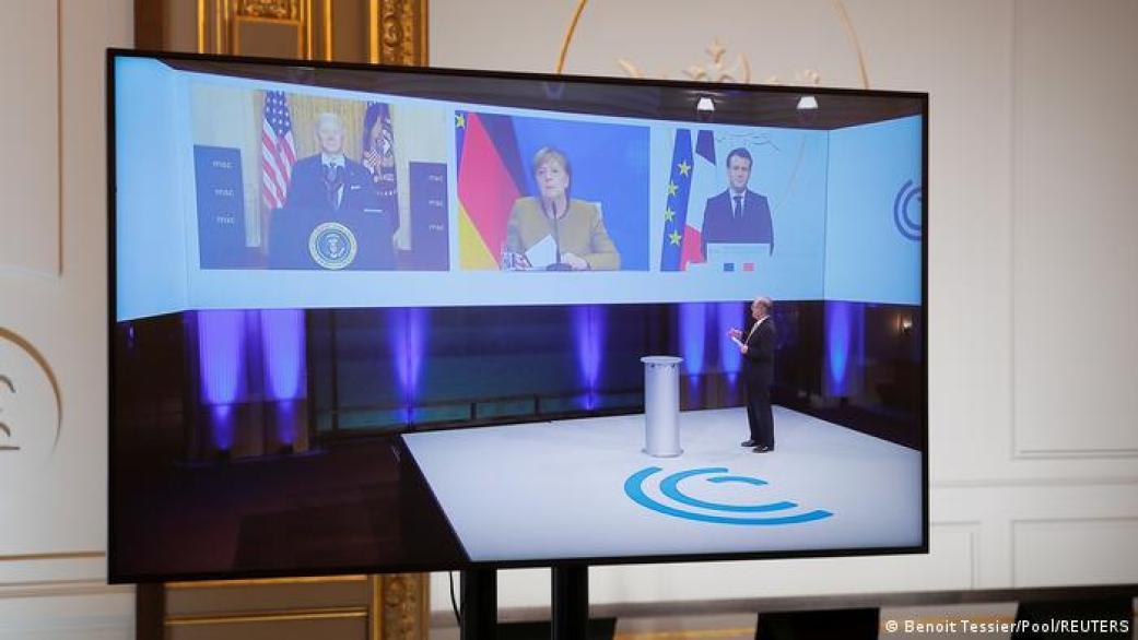 En el encuentro participaron también de forma remota la canciller de Alemania, Angela Merkel, y el presidente de Francia, Emmanuel Macron.