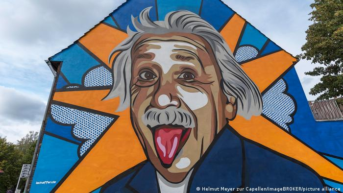 Grafiti de Einstein en Münster, Alemania
